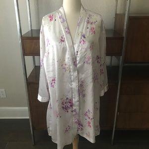Oscar de la Renta Neiman Marcus Floral Robe Small